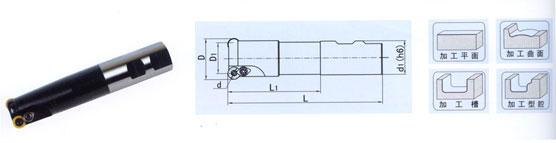 立装可转位平面粗铣刀Kr60°